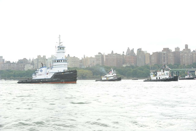 The Great Northern Tugboat Race cut through the waves of the Hudson River on September 2, 2012.
