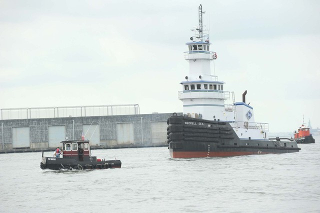 The Great Northern Tugboat Race filled the Hudson River on September 2, 2012.
