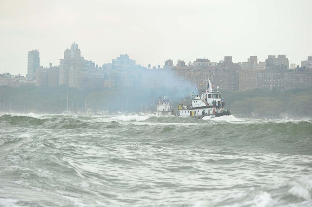 A tugboat in the Hudson River on September 2, 2012.