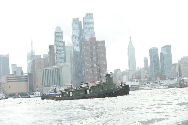 A boat at the Great Northern Tugboat Race on September 2, 2012 in the Hudson River.