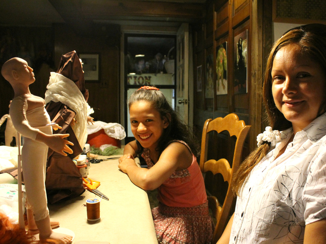 Vicky Escalona, 10, and her mother, Jackie, took a doll-making class with Garica.