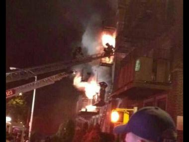 CROWN HEIGHTS - Reports indicate 22 people, including 11 firefighters, were injured in a four alarm blaze that broke out at 1365 Carroll Street near Kingston Avenue in Brooklyn at about 2:30AM. The cause of the fire is under investigation.