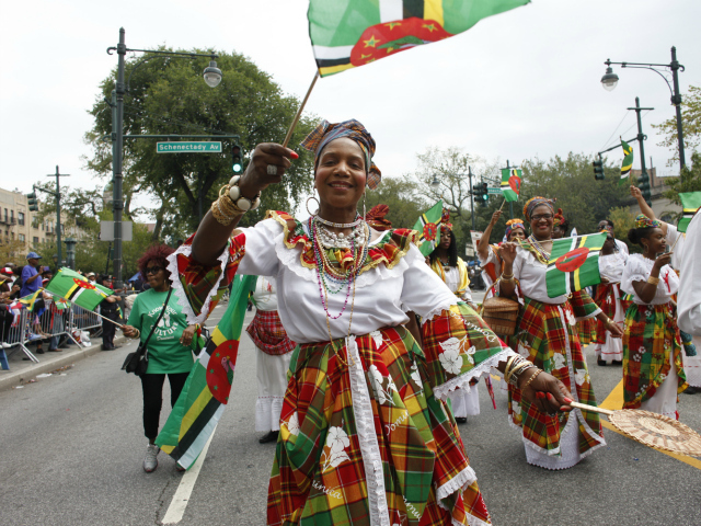 West Indian-American Day Parade along Eastern Parkway in Brooklyn.  Sept. 3, 2012.