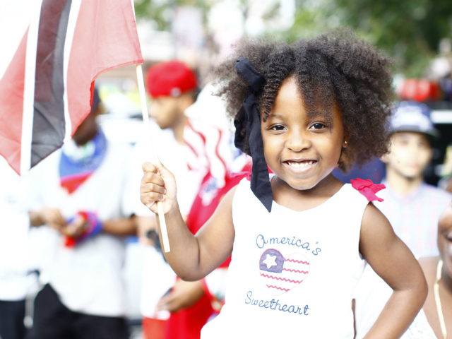 A young spectator at the 2012 West Indian-American Day Parade. Sept. 3, 2012.