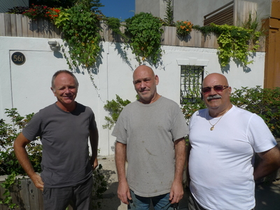 Mikael Levin, Daniel Reynolds, and Joe Padilla are Union Street residents concerned about the arrival of Royal Palms Shuffleboard Club.
