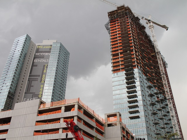 The high-rise at 4545 Center Boulevard is scheduled to open in April 2013.