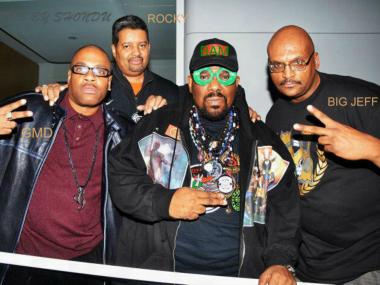 Afrika Bambaataa, center, is throwing his support behind a hip-hop museum in the Kingsbridge Armory.