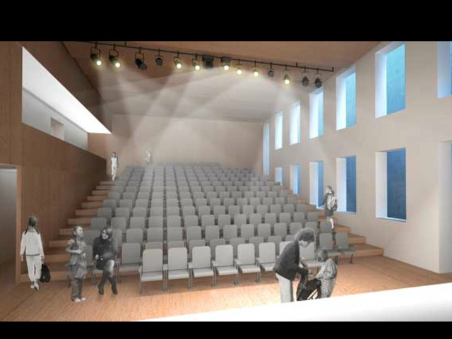 The new theater at the Stephen Gaynor School.
