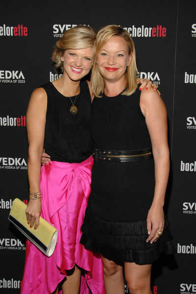 Arden Maryn and Samantha Mathis at the premiere of