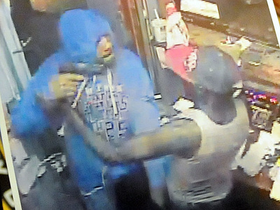 Police Commissioner released a picture of surveillance video of the deadly Bronx gas station robbery Sept. 4