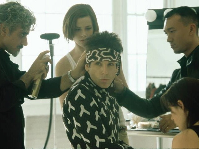 Ben Stiller plays Derek Zoolander in