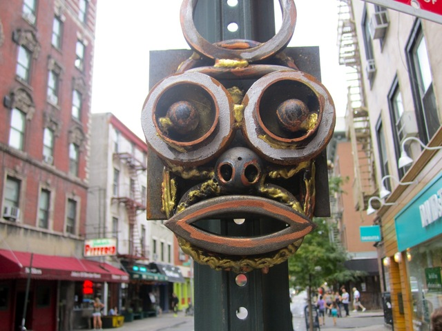 The expressions of the metal sculptures that popped up in the West Village in early September 2012 range from reflective to alarmed.