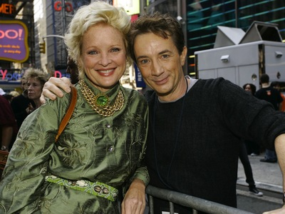 Singers Christine Ebersole and Martin Short pose backstage at the 15th Annual Broadway On Broadway Concert on Sept. 10, 2006 in New York City.