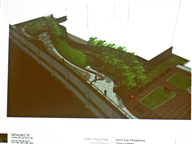The park would extend one block along the East River between East 56th and 57th streets.