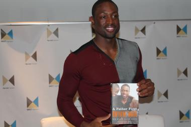 Miami Heat superstar Dwyane Wade visited My Image Studios in Harlem to promote his new book   A Father First: How My Life Became Bigger Than Basketball .