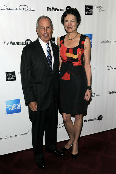 Mayor Michael Bloomberg and Diana Taylor at the Couture Council Artistry of Fashion Awards at Avery Fisher Hall at Lincoln Center, Wednesday, September 5, 2012.