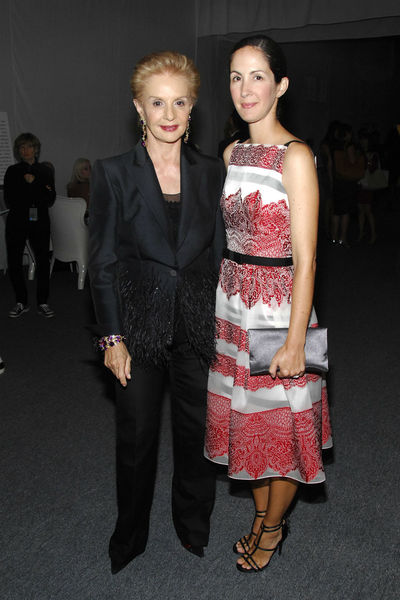 Carolina Herrera and daughter Patricia Lansing at the Style Awards at the tents at Lincoln Center, Wednesday, September 5, 2012.