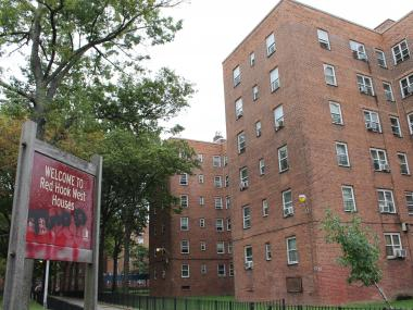 Police arrested 12 people at the Red Hook Houses in Brooklyn on Wednesday, Sept. 5, 2012, the Kings County District Attorney's Office said.
