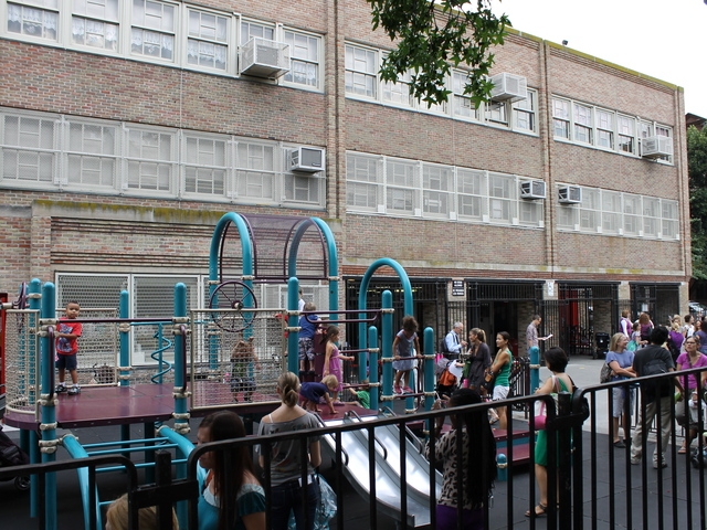 The playground at P.S. 321 on Seventh Avenue in Park Slope.