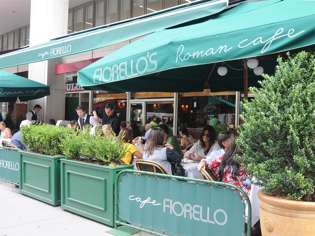 Crowds of well-heeled patrons gathered at Cafe Fiorello to enjoy some mid-afternoon libations during the first day of New York Fashion Week.