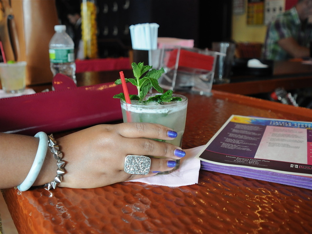 Fashion blogger Patrice Yurskik said that her favorite drink to sip on during Fashion Week is Rosa Mexicano's pineapple mojito.