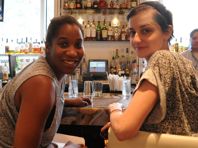 Sam Dinsdale, right, enjoys her first Fashion Week with friend Jessica Bacon by starting with a Hemingway Daiquri at Ed's Chowder House.