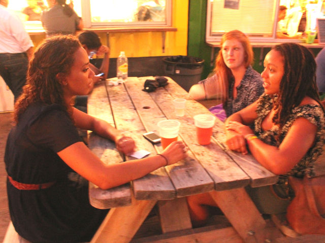September 6 2012 - People enjoyed beer, food, music, and fashion at Fashion's Night Out in DeKalb Market.