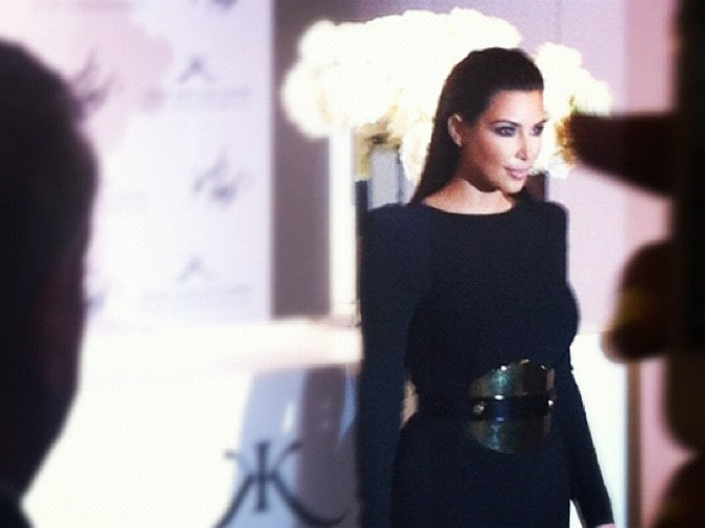 Kim Kardashian at Lord & Taylor, Fashion's Night Out, Sept. 6, 2012.