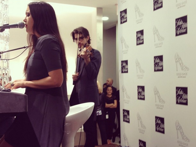 Vanessa Carlton at Saks Fifth Avenue on Fashion's Night Out, Sept. 6, 2012.