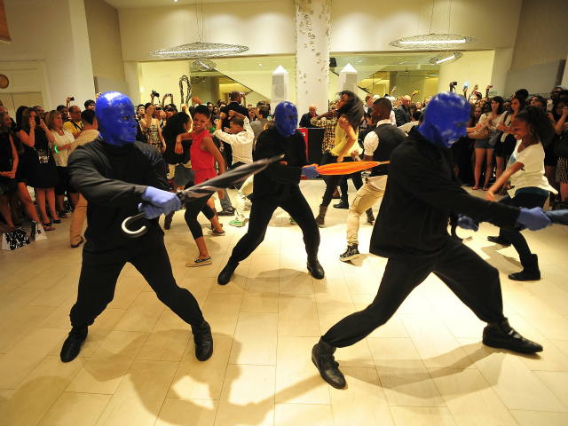 Blue Man Group at Saks Fifth Avenue for Fashion's Night Out, Sept. 6, 2012.