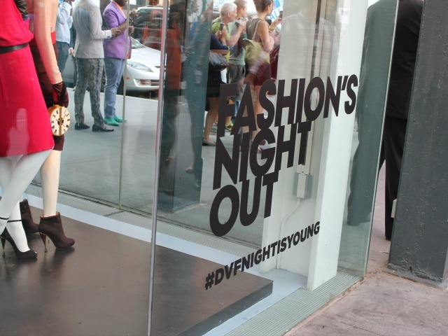 Fashion's Night Out, Sept. 6, 2012.