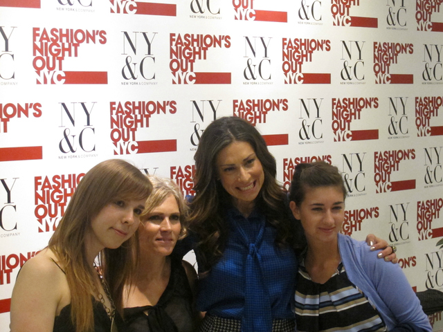 Stacy London with fans at New York & Company for Fashion's Night Out, Sept. 6, 2012.