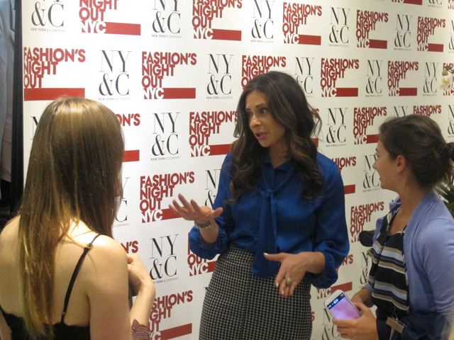 Stacy London dishes out advice to fans at New York & Company for Fashion's Night Out, Sept. 6, 2012.