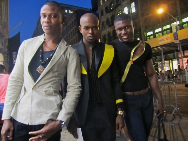 <p>Nelson Lebarty, menswear designer &quot;Monsieur Belange&quot; and Adam Thompson spent Fashion&#39;s Night Out on Sept. 6, 2012 in SoHo.</p>