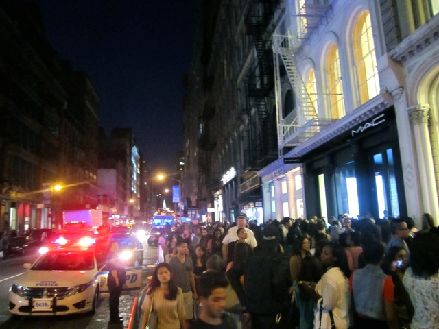 Police officers controlled the crowd outside the MAC store on Broadway Sept. 6, 2012 because so many people wanted to see the rapper Azealia Banks perform on Fashion's Night Out.