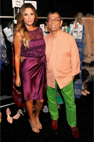 Daisy Fuentes and Tadashi Shoji backstage at Mercedes Benz Fashion Week at Lincoln Center, Thursday, September 6, 2012.