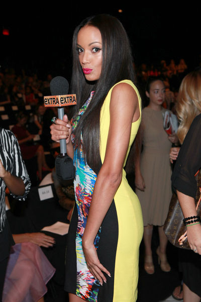 Selita Ebanks at the BCBGMAXAZRIA show at Mercedes Benz Fashion Week at Lincoln Center, Thursday, September 6, 2012.