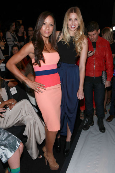 Dania Ramirex and Whitney Port at the BCBGMAXAZRIA show at Mercedes Benz Fashion Week at Lincoln Center, Thursday, September 6, 2012.