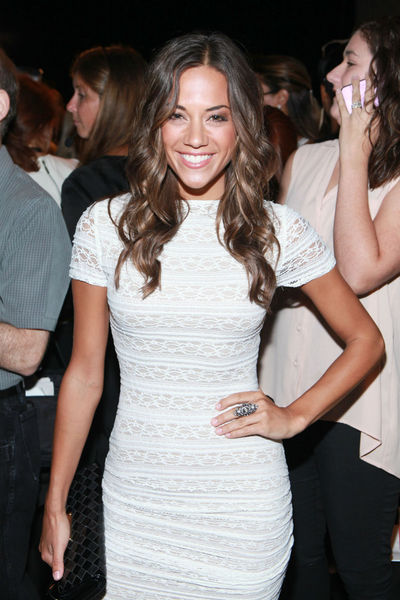 Jana Kramer at the BCBGMAXAZRIA show at Mercedes Benz Fashion Week at Lincoln Center, Thursday, September 6, 2012.