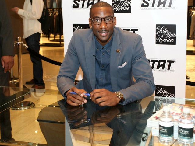 Knicks star Amar'e Stoudemire at the SAKS Fifth Avenue party for Fashion's Night Out on Sept. 6, 2012.