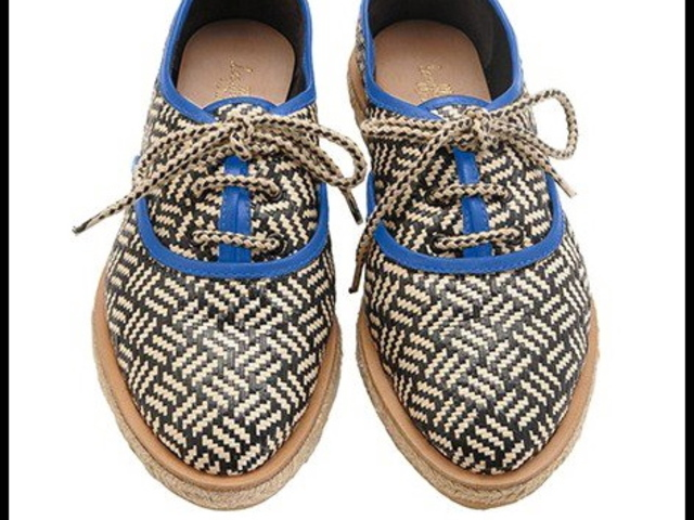 Loeffler Randall Odile sneakers in woven raffia were an exclusive at Bird for Fashion's Night Out.