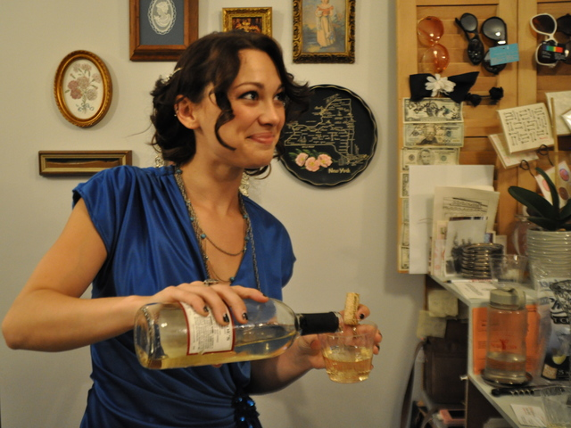 Katherine Tucker served customers wine at her aunt's store Antoinette.