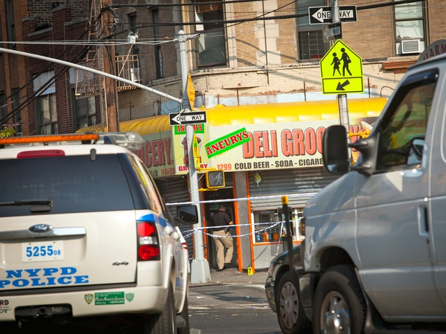 Cops fatally shot Reynaldo Cuevas, 20, a bodega worker who was held hostage in Natalie Grocery in the Bronx by armed robbers on Sept. 7, 2012.