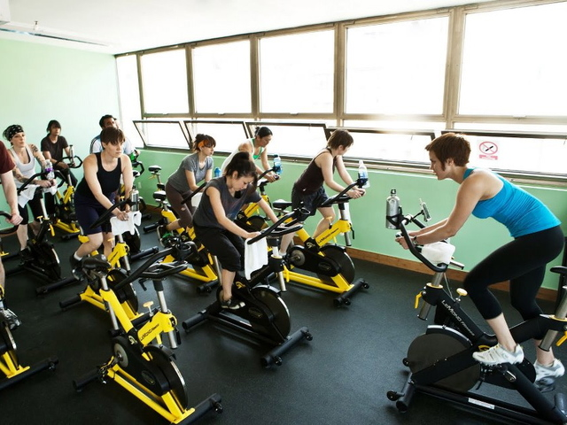Spinning and other classes are offered at Green Fitness Studio.