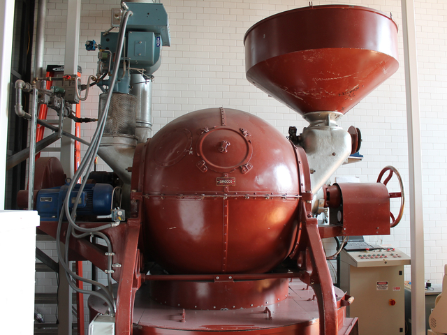 Cacao Prieto uses an industrial Sirocco roaster at its factory in Red Hook.