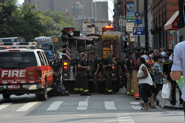 FDNY officials responded to a smoke condition at the Delancey Street station Sept. 7, 2012.