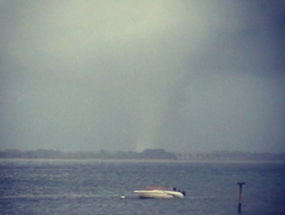 An Instagram photo of the September 8, 2012 storm taken from Breezy Point, in Queens, by user Mike_Abrams14.