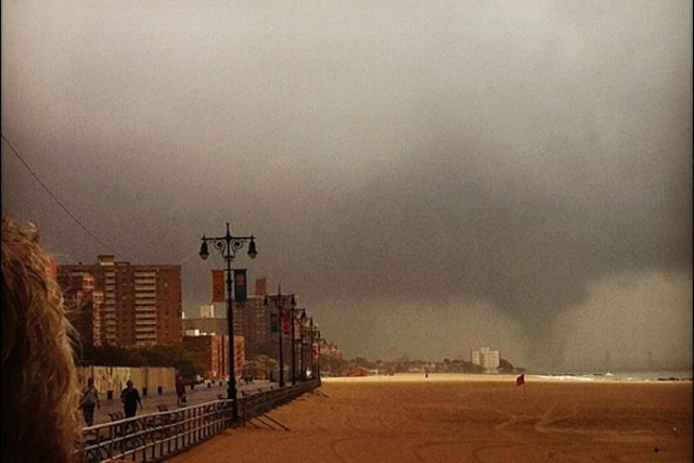 An image from Coney Island, near the aquarium, where an Instagram user posted a photo of the storm on September 8, 2012.