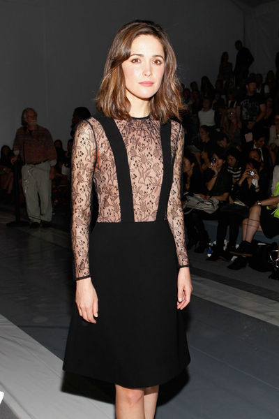 Rose Byrne at the Jill Stuart show in the tents at Lincoln Center, Saturday, September 8, 2012.
