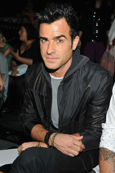 Justin Theroux at the Alexander Wang show at Pier 94 in Hell's Kitchen, Saturday, September 8, 2012.